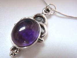 Purple Amethyst 925 Sterling Silver Necklace Corona Sun Jewelry - €14,88 EUR