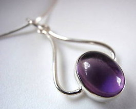 Amethyst Curves 925 Sterling Silver Necklace India - €17,99 EUR