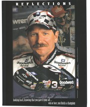 Dale Earnhardt Reflections Vintage 8X10 Color NASCAR Memorabilia Photo - $6.99