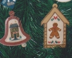 Merry Minis II Festive ornaments christmas cross stitch chart Waxing Moon Design
