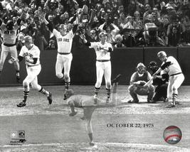 Cartlon Fisk Red Sox Reds Game 6 1975 World Series 8X10 BW Baseball Photo - $6.99