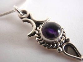 LAST ONE!  Amethyst 925 Sterling Silver Necklace India - €16,20 EUR