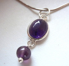 Very Small Amethyst 925 Sterling Silver Necklace New - €14,73 EUR