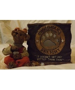 Boyds Bear Resin Fannie Sweetcheeks...Never Enough Votive Candle Holder - $20.99