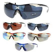 Xloop Mens Warp Around Rimless Shield Sports Cycling Running Sunglasses - $7.95