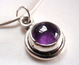 Amethyst Sphere 925 Silver Silver Pendant India New - $15.50