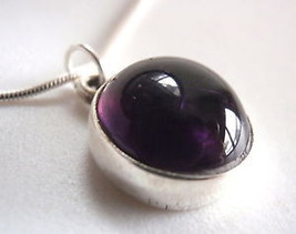 New Purple Amethyst Sphere 925 Sterling Silver Necklace India - €12,53 EUR
