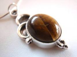 Tiger Eye 925 Sterling Silver Necklace Corona Sun Jewelry - €14,88 EUR