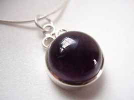 Amethyst Sun 925 Sterling Silver Pendant India New - $13.49
