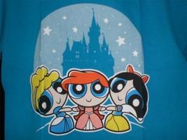 """TeeFury PowerPuff YOUTH LARGE """"PrincessPuff Girls"""" Disney Mash Up TURQUOISE - $11.00"""