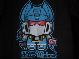 "TeeFury Transformers YOUTH MEDIUM ""Hello Minions"" Hello Kitty Mash Up BLACK - $11.00"
