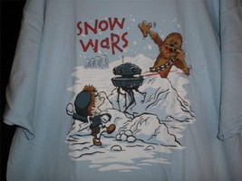 "TeeFury Star Wars XLARGE ""Snow Wars"" Snowball fight on Hoth Shirt POWDER... - $14.00"
