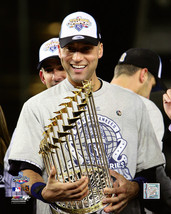 Derek Jeter 2009 World Series Trophy 8X10 Color Baseball Memorabilia Photo - $6.99