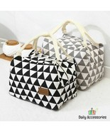 Geometry Print Cute Picnic Bag Outdoor Camping Family Friends Time Lunch... - $13.99