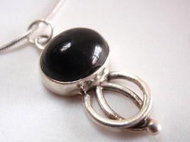 Black Onyx 925 Sterling Silver Pendant Oval Corona Sun Jewelry New - $99,46 MXN