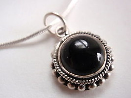 Black Onyx Sun 925 Sterling Silver Necklace India new - $281,99 MXN