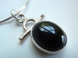 New Black Onyx Handmade 925 Silver Pendant India - $177,44 MXN