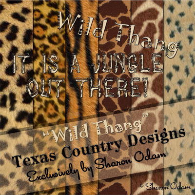 Digital Scrapbooking Paper Pak ~ Wild Thang Collection