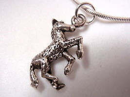 "925 HORSE Necklace w/ Silky Smooth Silver 16"" Chain - $18.21"