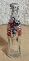 Thailand Coke Coca-Cola Mini Miniature dried Blue Flowers crystal glass bottle image 4