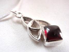 Red Garnet Infinity 925 Sterling Silver Necklace Corona Sun Jewelry - $17.81