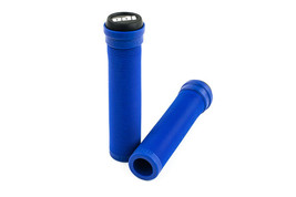 ODI SOFT LONGNECK FLANGELESS BLUE BICYCLE SCOOTER GRIPS - $10.95
