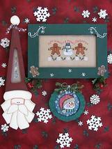 Merry Minis ornaments christmas cross stitch chart Waxing Moon Design - $8.00
