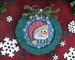 Merry Minis ornaments christmas cross stitch chart Waxing Moon Design