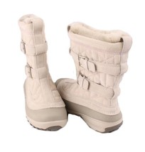 Columbia Flurry Omni-Heat Womens Natural/Hydrangea Mid-Calf Winter Boots Size 6 - $89.99