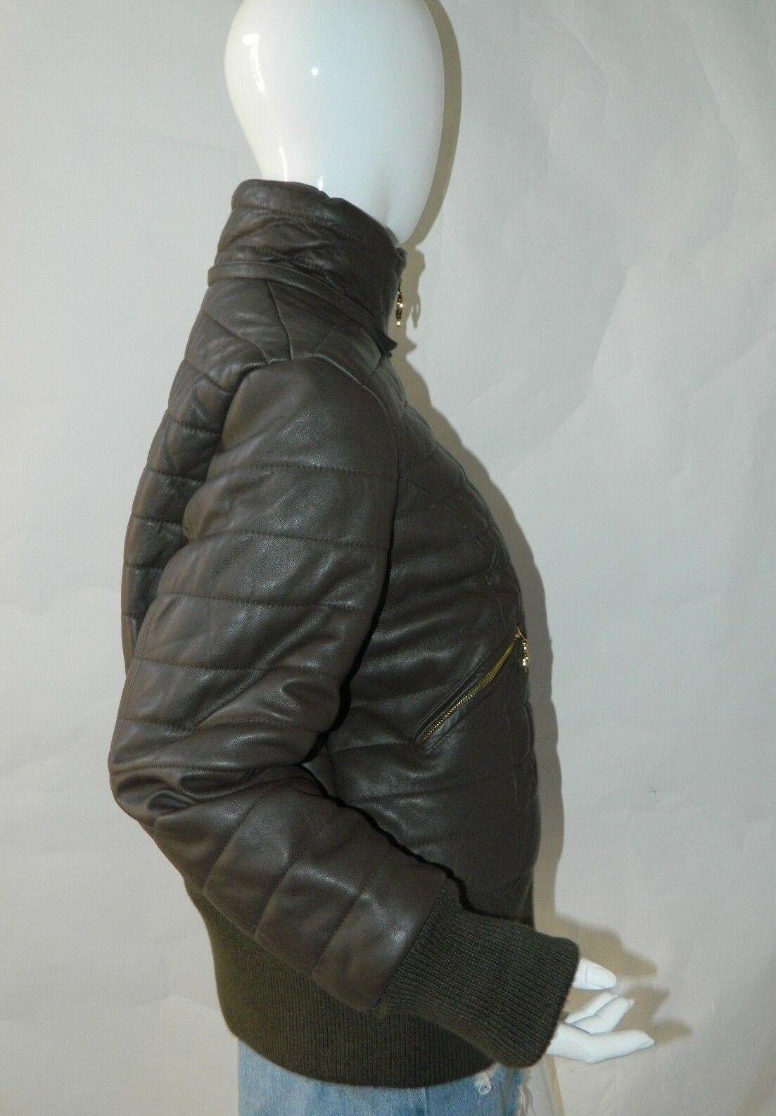 BABY PHAT Jacket Puffer Leather Kimora Lee Simmons Brown Coat XX-Large image 8