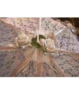 "32"" Bridal Shower Wedding  Silver roses Umbrella - $24.95"