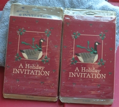 2 Packages of Hallmark Holiday Invitation Cards - Canadian Christmas Goo... - $3.00