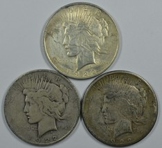 1922 P D S Peace circulated silver dollars  - $70.00