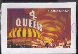 4 QUEENS Hotel & Casino Las Vegas Playing Cards, New - $3.95
