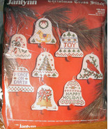 Janlynn Counted Cross Stitch Bell 8 Christmas Ornaments to Make - $14.99