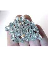 Stunning WEISS signed White RHINESTONE BROOCH Pin - 2 1/2 inches  -FREE ... - $85.00