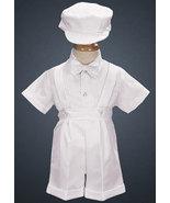 12-18 Months Baby Boys White Dressy Suspenders Set   - $21.00