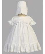 Baby Girls Christening Baptism Cotton Embroidered Dress Size 0-3 Months - $50.00