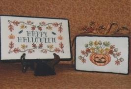 Acorn Halloween fall cross stitch chart Waxing Moon Designs - $8.00