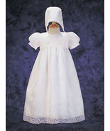 Baby Girls Embroidered Organza Christening & Baptism Gown Size 0-3 Months - $54.00
