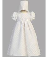 Baby Girl Poly Cotton Polka-dot Burnout Christening Baptism Dress  3-6 M... - $53.00