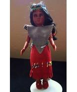 Vintage Indian & Papoose Doll Sleepy Eyes Rawhide Dress - $14.95