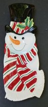 Fitz and Floyd Snowman Snack Therapy Tray Plate Candy Dish - $24.70