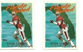 DEION SANDERS 1995 TOPPS FOOTBALL CARD FLORIDA HOT BED #FH1 2 card lot - $3.99