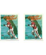 DEION SANDERS 1995 TOPPS FOOTBALL CARD FLORIDA HOT BED #FH1 2 card lot - $3.99