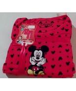 Disney Womens Mickey Mouse 2 Piece Pajama Set Microfleece SZ SM Red NEW - $29.99