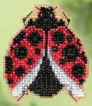 Ladybug Hug Spring 2015 Seasonal ornament pin kit cross stitch Mill Hill - $6.75