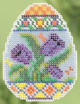 Tulip Egg Spring 2015 Seasonal ornament pin kit cross stitch Mill Hill - $6.75