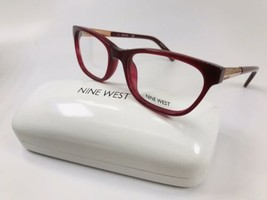 New Nine West NW5141 602 Burgundy Eyeglasses 52mm with Case - $44.50