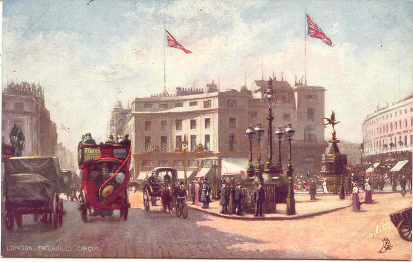Piccadilly Circus Tuck Oillette Vintage Post Card